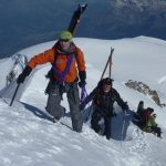 Ski Mountaineering High On Mont Blanc