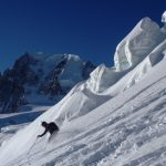 Brilliant Powder Skiing In The Vallee Blanche In Early Winter