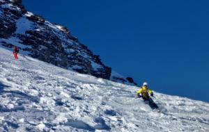 Magnus Off Piste Skiing At St Gervis / St Nicholas de Veroce below Mont Joly
