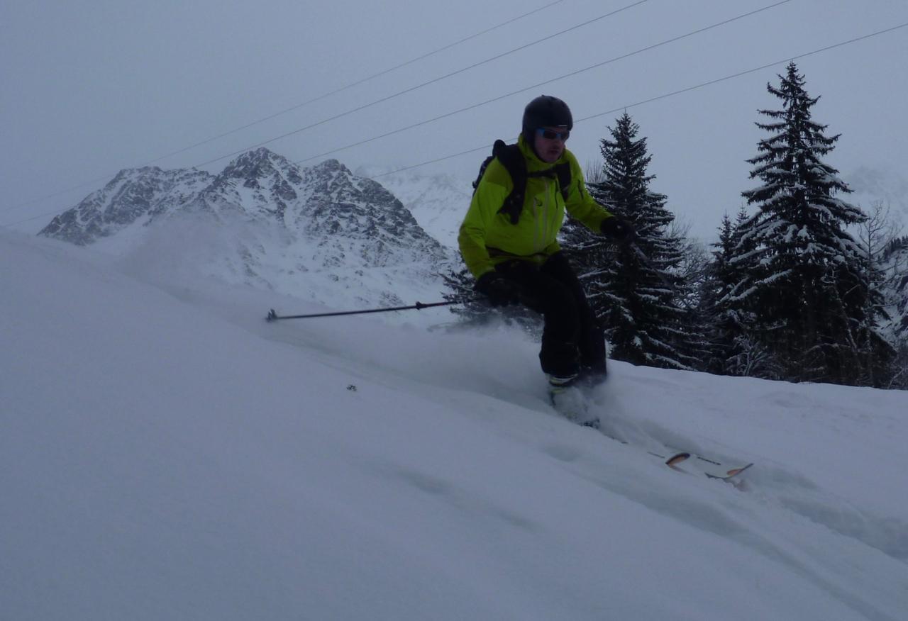 Les Houches Off Piste & Micro Ski Touring Day, Jan 2018