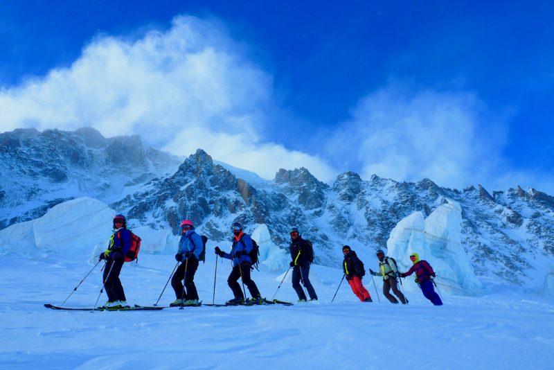 Ski Touring On The Col Tour Noire