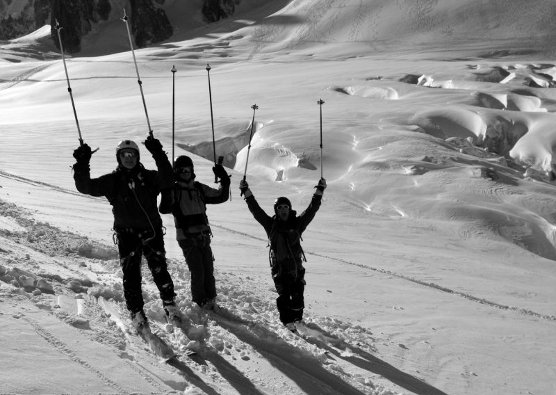 Intro Ski Touring Team In The Vallee Blanche