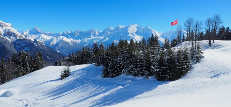 Mont Blanc View From Ski Touring In The Aravis