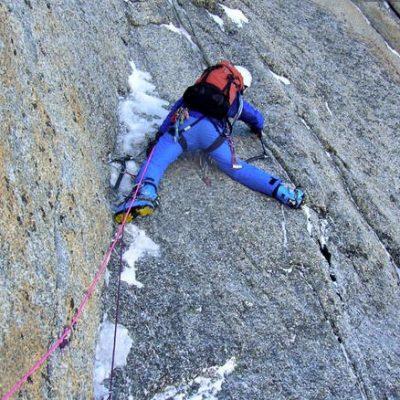 Perroux Gully (III, 4+, 5b 350m) Triangle du Mont Blanc du Tacul