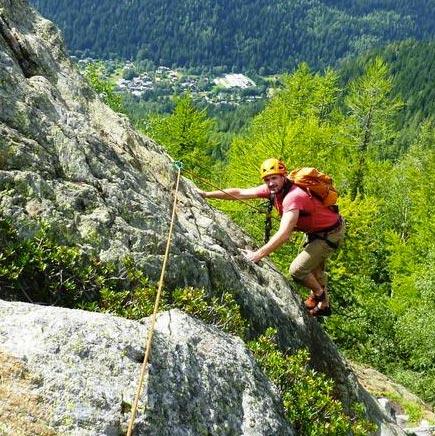 Chamonix Via Corda Alpina, 600m, F3c