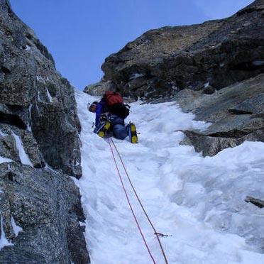 Charlet Ghilini (III,5 500m) North Face Pre de Bar, Argentiere Basin