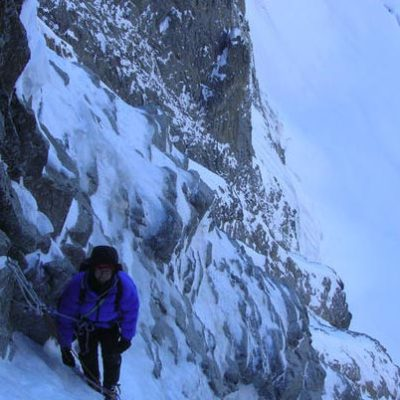 Gully Variations (III, 4+, 400m) North Face Mont Dolent