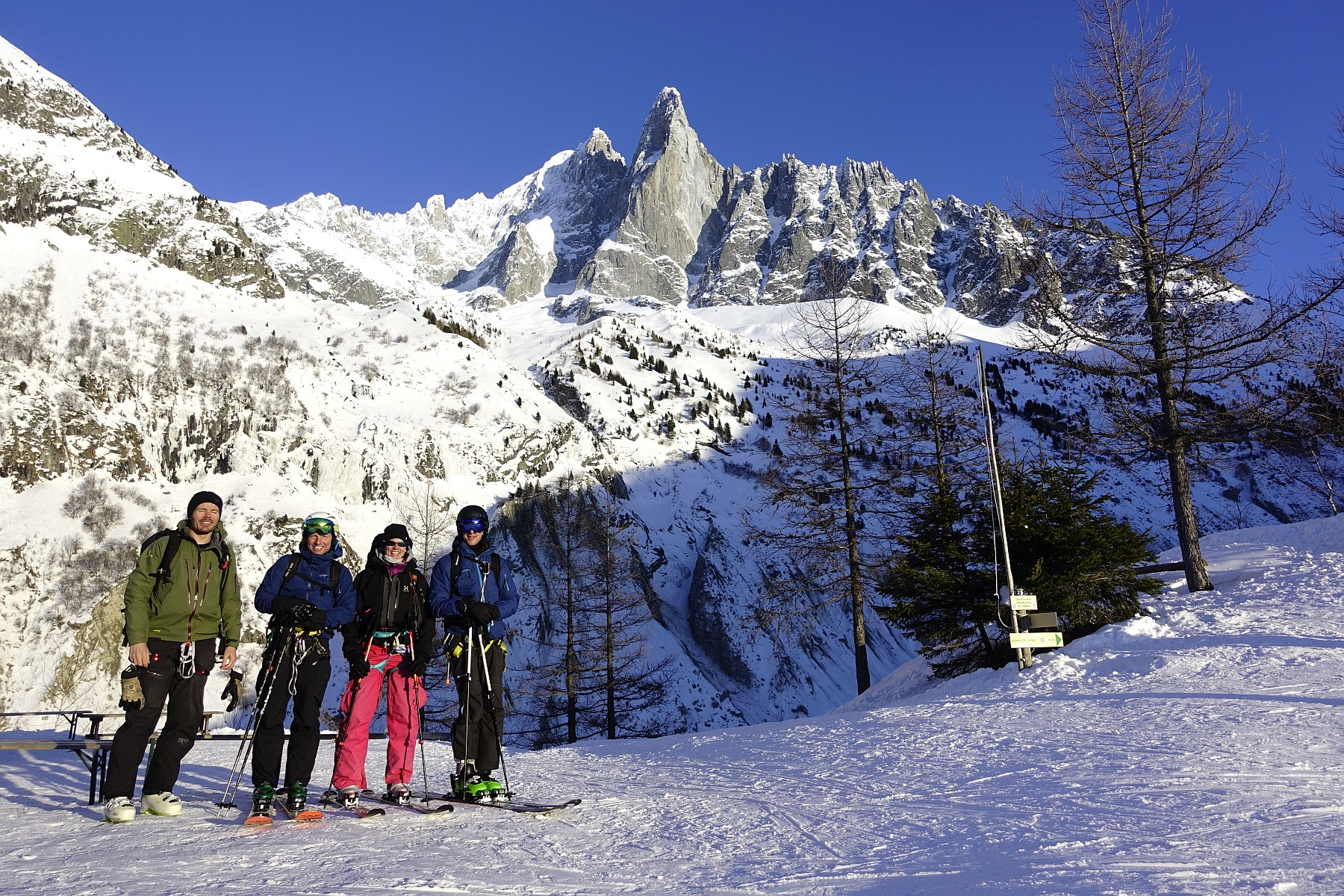 Vallée Blanche Guided Ski Touring Day, Feb 2018