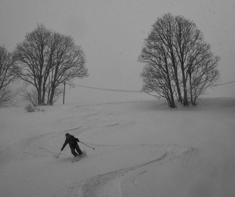Fresh Tracks in Chamonix powder Off Piste Skiing