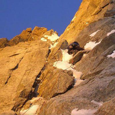 Supercouloir (ED2 800m) East Face Mont Blanc du Tacul