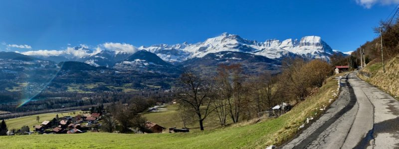 Aravis From Arve Valley