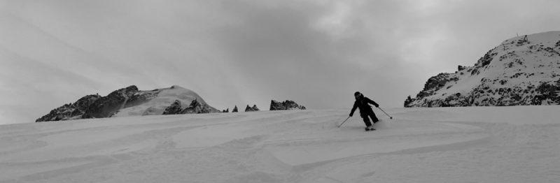 Argentiere Glacier ski