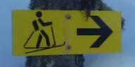 Ski Touring Route Sign