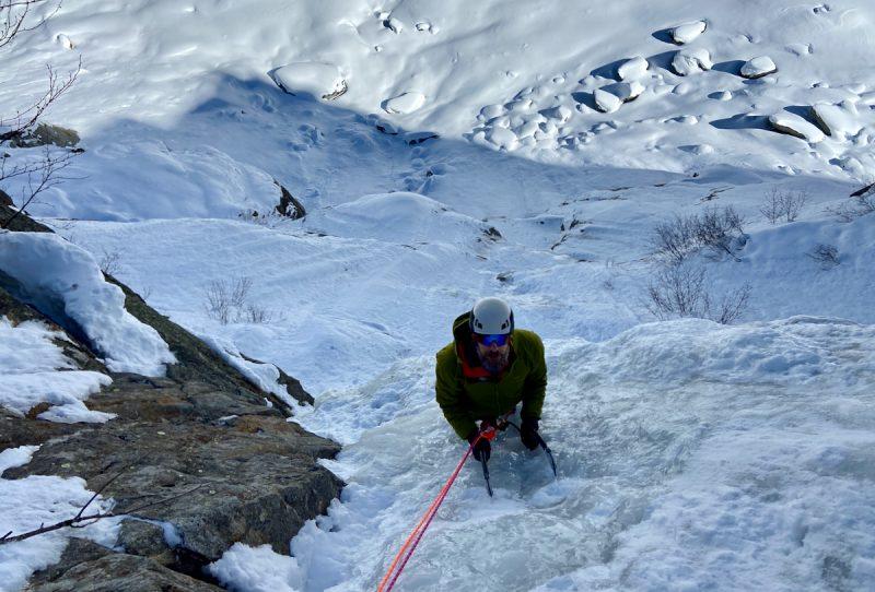 Ice Climbing Argentiere Rive Gauche