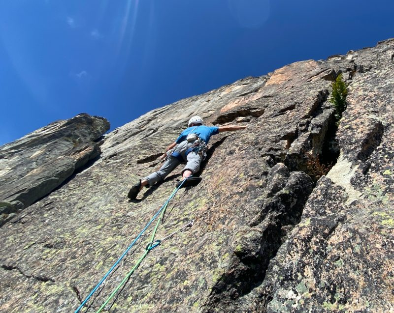 Rock climbing in Chamonix