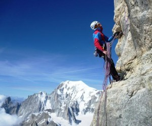 Rock Climbing on the Dent du Geant South Face