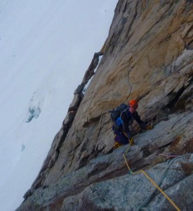 After The Crossing Of The Whymper Couloir, The Ascent Of The Rocher Whymper