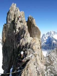 Quality Granite Ridge Climbing on the Aiguille d'Entreves Traverse