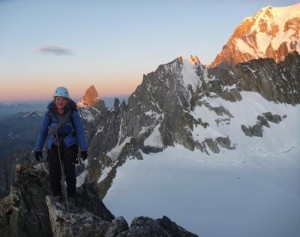Superb Alpine Atmosphere Starting the Aiguille d'Entreve Traverse at Dawn