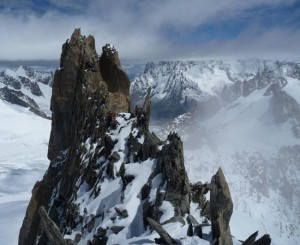 The Excellent Summit Ridge & Crux Wall of the Aiguilles Entreves Traverse
