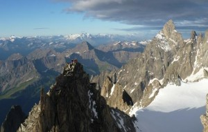 The Stunning Positions on the Traverse of the Aiguille d'Entreve (AD)