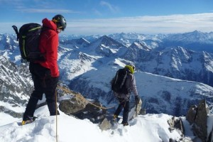 The Enjoyable South Ridge Section of the Aiguilles Marbrees Traverse