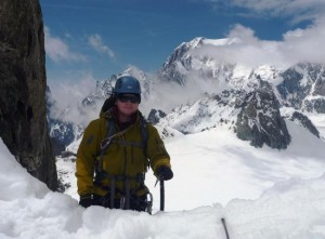 Top of the West Central Couloir on the Aiguilles Marbrees