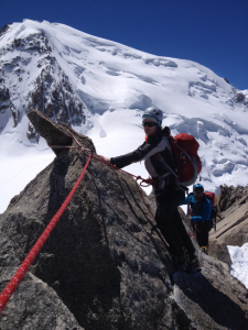 Enjoyable Snowy Early Summer Conditions On The Initial Section Of The Arete