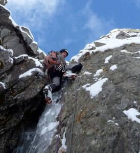 Bolted icy mixed climbing in the Chamonix Valley Great Sport