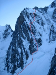 Ceccinel Nomine  Boivin Vallencant  Grand Pilier dAngle  Mont Blanc