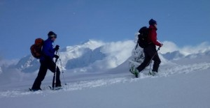 Scenic Ski Touring in The Aravis With Mont Blanc Beyond