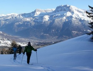 Ski Touring Above the Arve Valley Using the Combloux Lift System