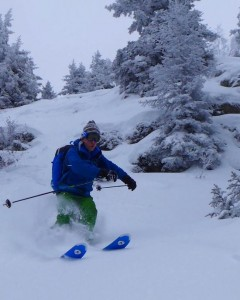 Fun Steep Powder Line On The West Face Of Prarion