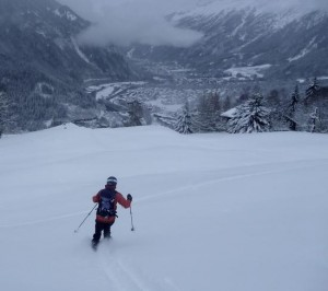 Lovely Open Powder Meadows Above Bellevue Les Houches