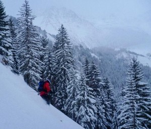 Steep Entrance Pitches To Bionnassay Valley From Les Houches Ski Area