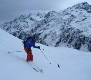 Fine Skiing Leads Down to The Chalets De Balme & Roman Road