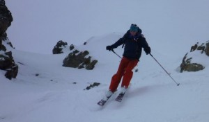Steep Skiing For a Short Pitch On The East Side of The Col