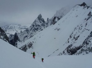 Ski Mountaineering Training on the North Face of the Grand Flambeau