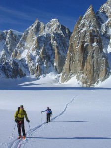 Ski Touring in Cirque Maudit Head of the Vallee Blanche