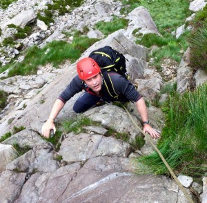 Chris Enjoying Snowdonia Scrambling Terrain On Mt Blanc Matterhorn Training Course