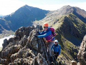 High On Crib Goch With Snowdon Behind