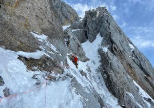 The 'Traverse Of The Gods' on the North Face of La Mamule.