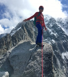 Helen On The Summit Of The Petite Aiguille Verte As Part Of Her Training For The Eiger