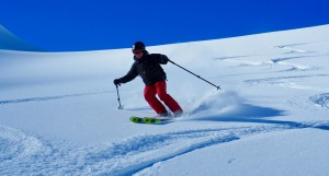 Fresh Tracks In Superb Velvet Powder Snow Near The Col de Balme