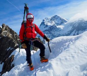 Paul in Ski Mountaineering Mode