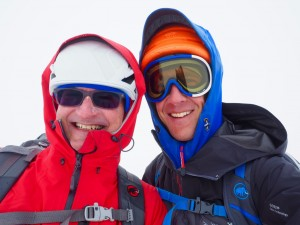 Paul & Rob on the broad plateau
