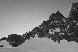 Winter Ascent Of The Aiguilles Marbrees