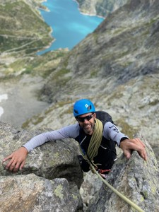 Scott cruising the crux pitch on the Pt Ifala