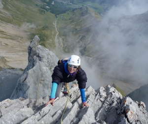 Jenny Climbing On Pointe Percee's Arete du Doigt