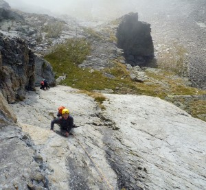 Fine-Sustained-Slab-Wall-Climbing-On-The-Long-First-5a-Pitch-On-The-Steinadler-Route